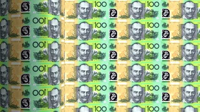australian dollars printing - animation