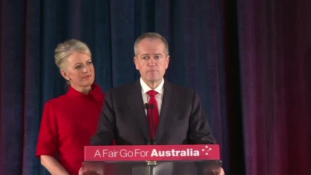 AUS: Australia's Labour party leader Shorten announces election loss