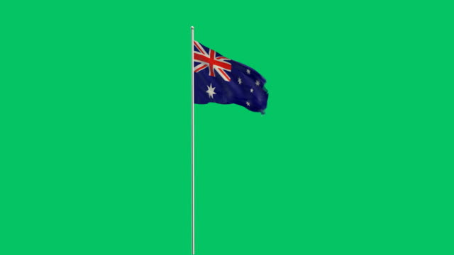 australische Flagge Rising