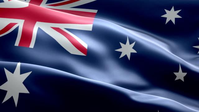 vídeos y material grabado en eventos de stock de bandera australiana - bandera nacional