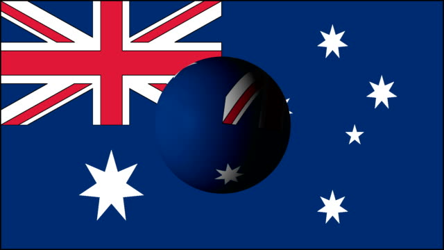 Australian flag with sphere part