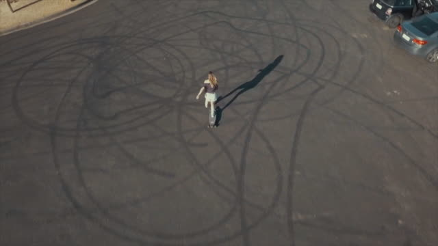 Australian Locals in Sport: aerial view skater woman