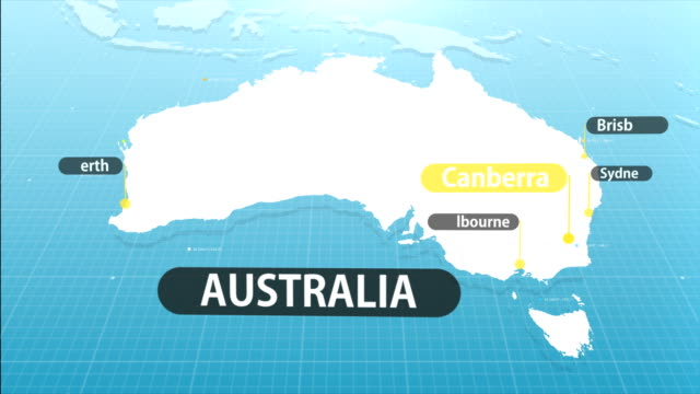 australian map - geographical locations stock videos & royalty-free footage
