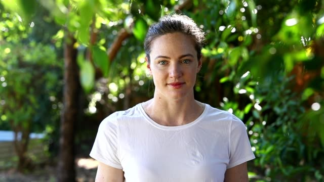 australian olympic swimmer cate campbell poses at her house on april 16, 2020 in brisbane, australia. athletes across the globe are now training in... - portrait stock videos & royalty-free footage
