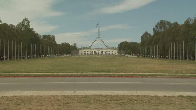 australian parliament building, canberra, act, australia - parliament building stock videos & royalty-free footage