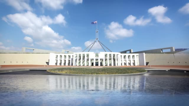 australian parliament house, canberra, australia - parliament building stock videos & royalty-free footage