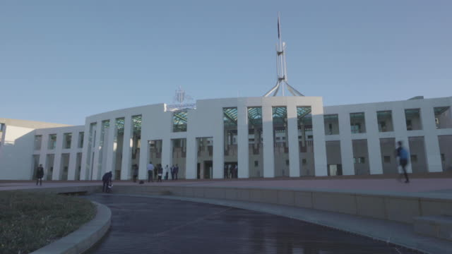 australian parliament house in canberra - parliament building stock videos & royalty-free footage