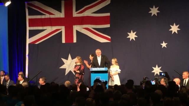AUS: Morrison celebrates Australian election victory