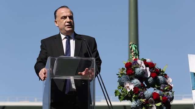 australian rugby league commission chairman peter v'landys speaks during the tommy raudonikis memorial service at the sydney cricket ground on april... - australian national team stock videos & royalty-free footage