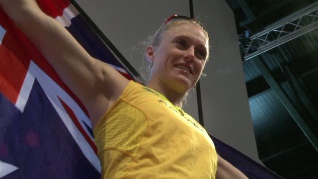 australian sally pearson, defending olympic 100-metre hurdles champion, goes into the london 2012 games full of confidence. london, united kingdom. - 2012 stock videos & royalty-free footage