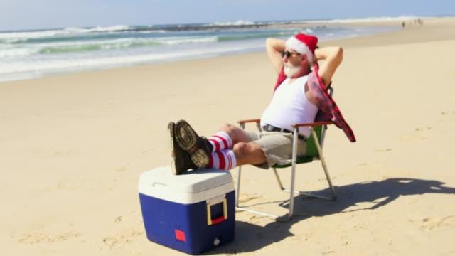 Australian Santa at the Beach in Summer