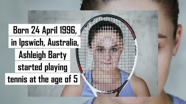 australian tennis player ashleigh barty started playing the sport at fiveyearsold but before she made it to the top of the tennis world she took a... - 4 5 years stock videos & royalty-free footage