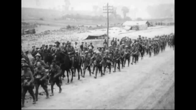 Australians On Their Way to the Battle of Arras During WWI