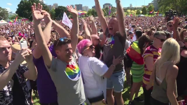 australians voted in favour of allowing same sex couples to marry official results showed wednesday sending the task of legalising marriage equality... - yes single word stock videos & royalty-free footage