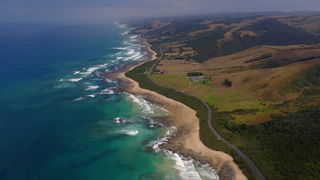 australia's great ocean road - rock face stock videos and b-roll footage