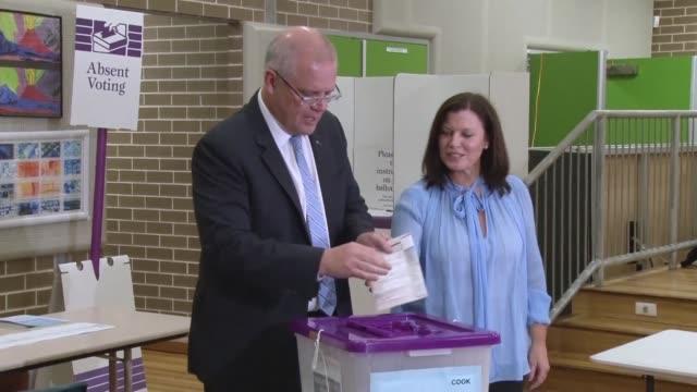 AUS: Australia PM Scott Morrison casts his vote