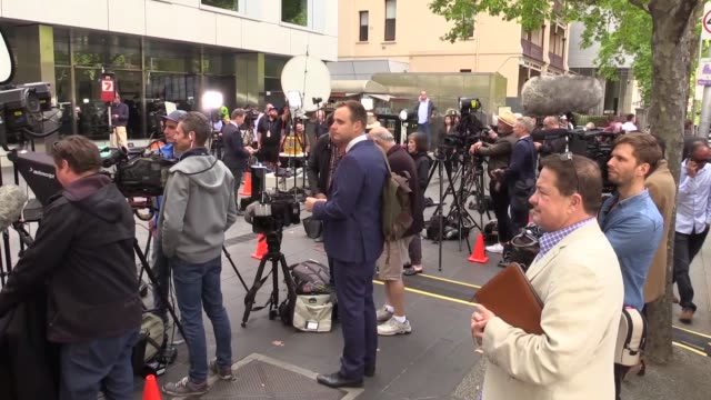 australia's top catholic cardinal was sentenced wednesday to six years in prison on charges of sexual assault george pell was convicted of sexual... - court hearing stock videos and b-roll footage