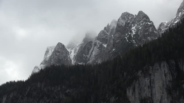 Austria Bischofsmatze Tennengebirge with clouds