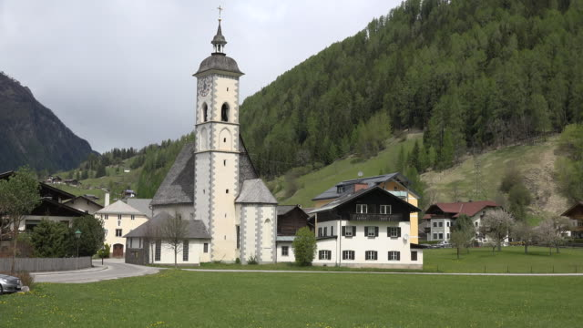 austria church and houses at dollach - austrian culture stock videos & royalty-free footage