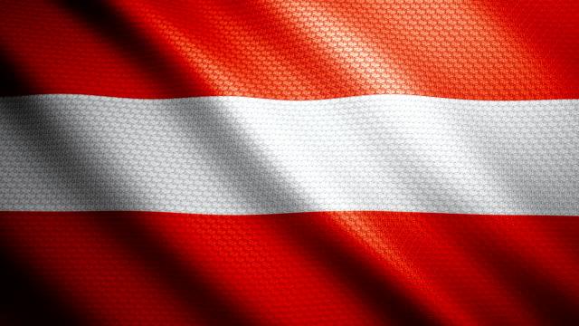 österreich flagge 4k - austria flag stock-videos und b-roll-filmmaterial