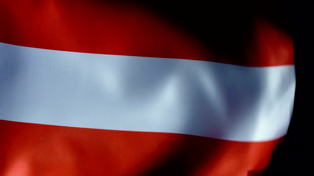 austria flag flapping - europa continente video stock e b–roll