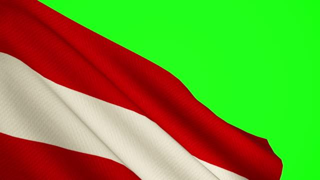 österreich flagge grüner bildschirm - austria flag stock-videos und b-roll-filmmaterial