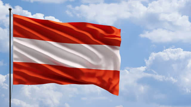 austria flag in the wind concept - traditionally austrian stock videos & royalty-free footage
