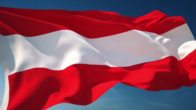 4 k österreich flagge-endlos wiederholbar - austria flag stock-videos und b-roll-filmmaterial