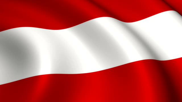 österreich flagge endlos wiederholbar - austria flag stock-videos und b-roll-filmmaterial