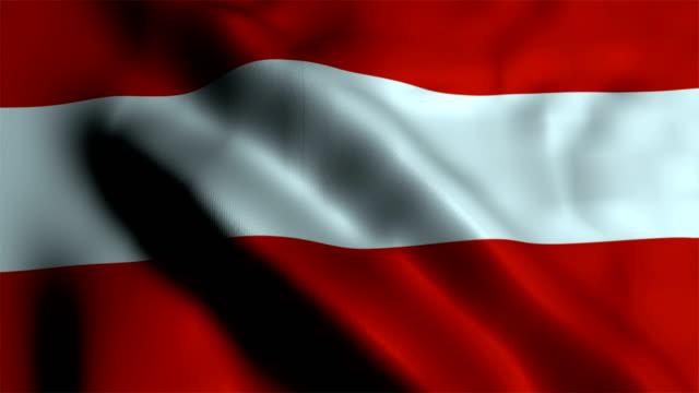 flagge-österreich - austria flag stock-videos und b-roll-filmmaterial