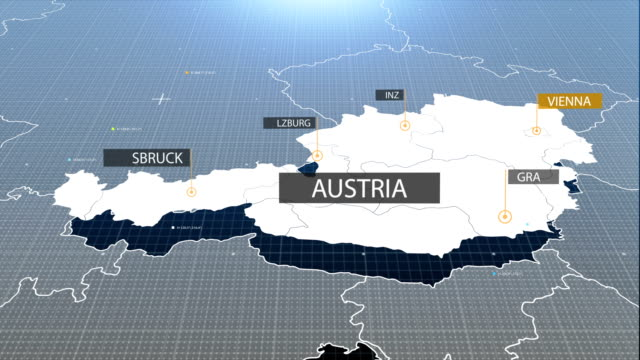 Austria map with label then with out label