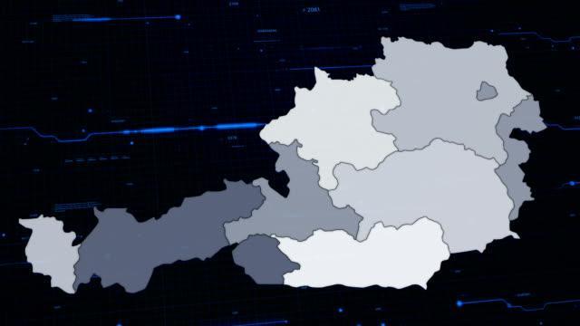Österreich Netzwerk-Karte