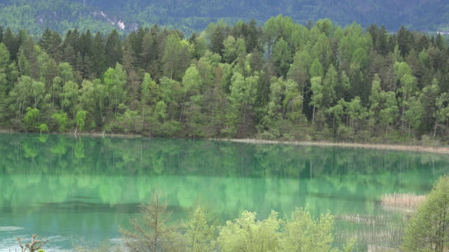 Austria reflections in blue green water of lake