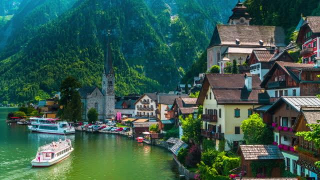 austria, salzburger land, hallstatt town - traditionally austrian stock videos & royalty-free footage