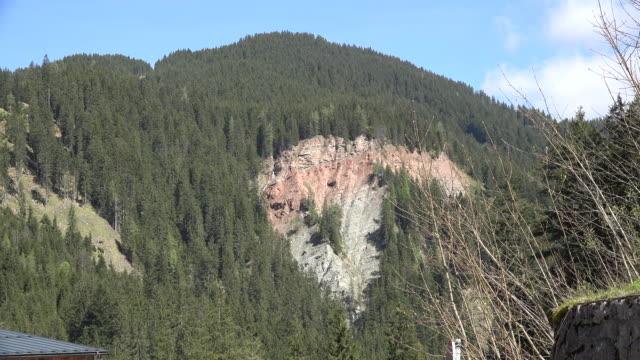 Austria scar of recent landslide
