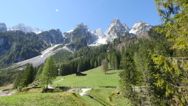 austria view of peaks and slope - panorama stock-videos und b-roll-filmmaterial