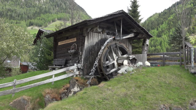 austria watermill near dollach - water wheel stock videos and b-roll footage