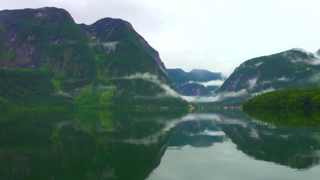 austrian alps reflection in water, beautiful landscape for recreation, relax - non us location stock videos & royalty-free footage