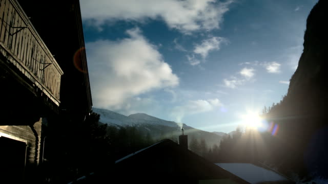 austrian alps surise - chalet stock videos & royalty-free footage