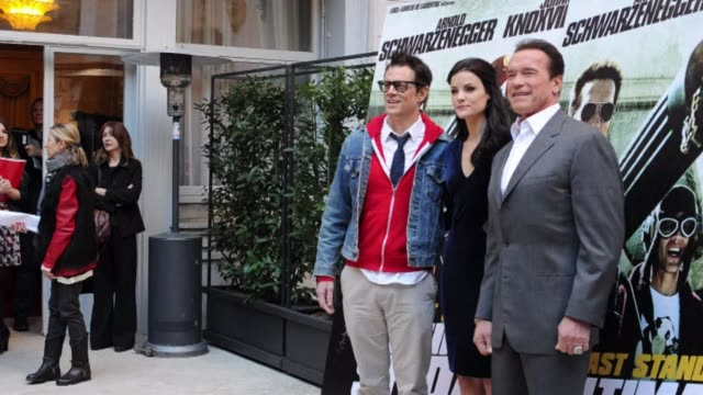austrian born us actor arnold schwarzenegger was in rome on friday to promote his new film the last stand clean us actor schwarzenegger promotes new... - austrian culture stock videos and b-roll footage
