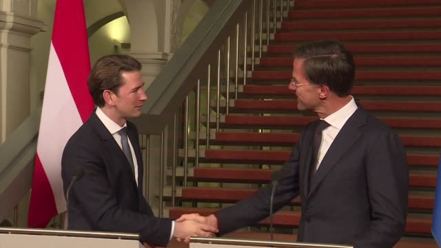 austrian chancellor sebastian kurz meets his dutch counterpart mark rutte in the hague saying that europe is doing everything possible to avoid a... - austrian culture stock videos and b-roll footage
