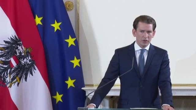 """austrian chancellor sebastian kurz predicts a return to """"normal"""" next year after a challenging autumn and winter because of the pandemic - traditionally austrian stock videos & royalty-free footage"""