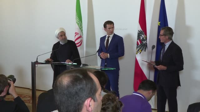 Austrian Chancellor Sebastian Kurz thanks Iranian President Hassan Rouhani for his support towards the clarification of the arrest of an Iranian...