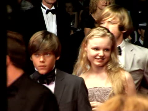 austrian director michael haneke and the young actors of his new film walked up the cannes red carpet on thursday night cannes alpesmartimes france - österreichische kultur stock-videos und b-roll-filmmaterial