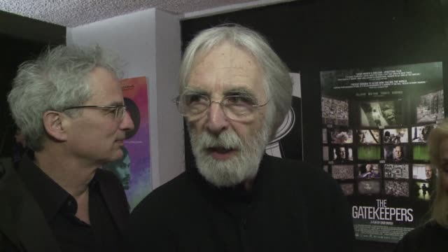 vídeos de stock, filmes e b-roll de austrian director michael haneke arrives in los angeles just ahead of the oscars saying he is steeling himself for a surprise at cinemas most... - austrian culture