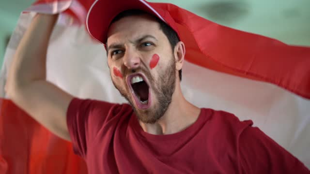 austrian fan celebrating at home - traditionally austrian stock videos & royalty-free footage
