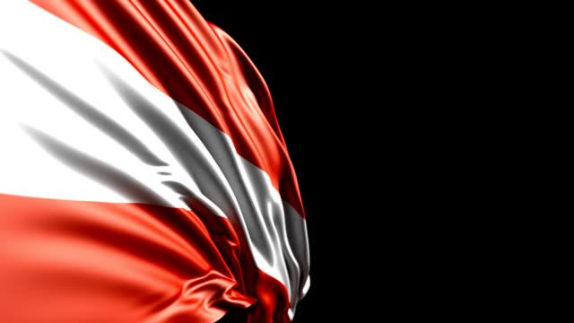 Österreichische Flagge HD 1080, PAL, NTSC, Loop, alpha enthalten