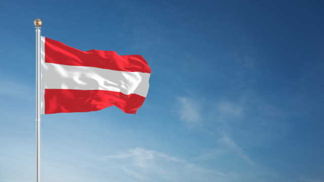 4K Austrian Flag - Loopable