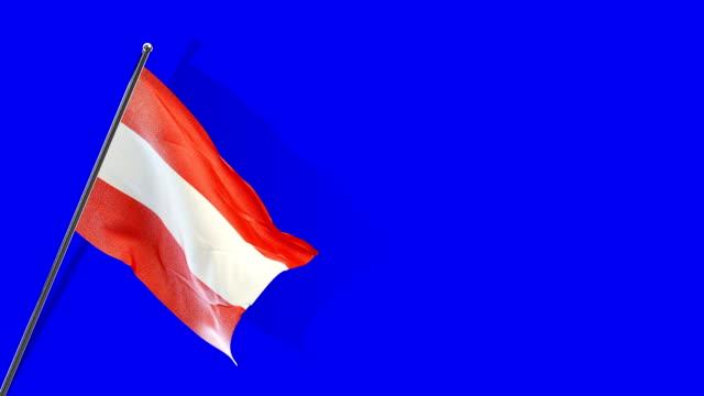 vidéos et rushes de autrichien drapeau rising - autriche
