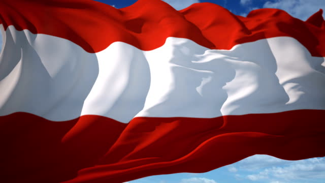 austrian flag - austria stock videos and b-roll footage